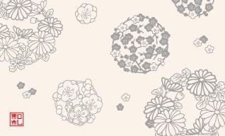 18.花の丸/染の三喜*和柄名刺*おすすめ
