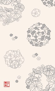 42.花の丸/染の三喜*和柄名刺