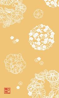 43.花の丸/染の三喜*和柄名刺