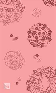 45.花の丸/染の三喜*和柄名刺