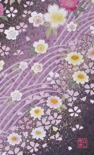 117.波桜/アトリエひとしほ*和柄名刺*おすすめ