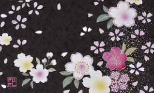 118.漆桜/アトリエひとしほ*和柄名刺*おすすめ