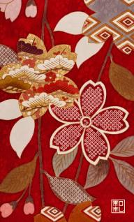210.大桜/富宏染工*和柄名刺
